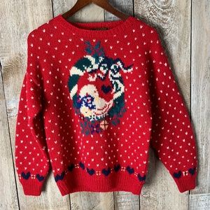 Vintage Wool Christmas Goose Ornament Sweater